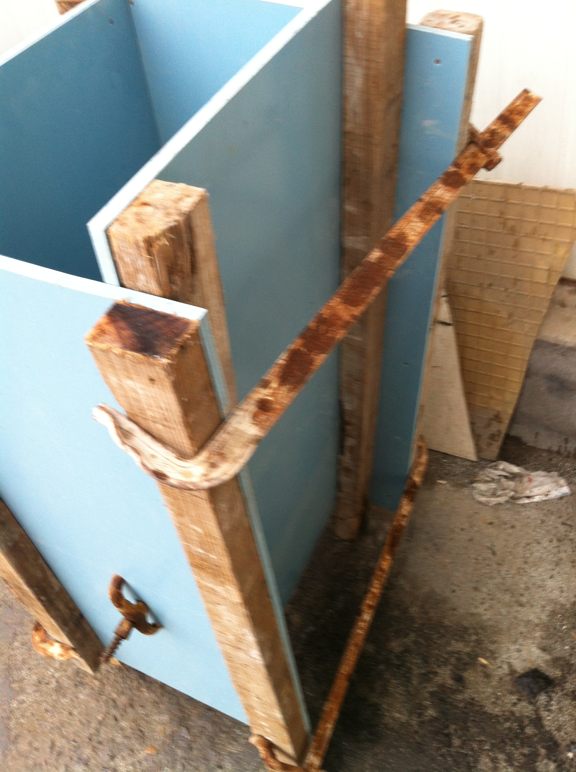 PVC蓝色建筑模板qs-01